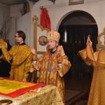 В неделю 37-ю по Пятидесятнице, епископ Вениамин возглавил Литургию в Никольском храме города Смолевичи