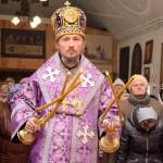 В Неделю вторую Великого поста епископ Вениамин возглавил Литургию в Преображенском храме города Березино
