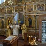 В Неделю о Страшном суде епископ Борисовский и Марьиногорский Вениамин совершил Литургию в Благовещенском монастыре