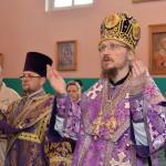 В Неделю 4-ю Великого поста епископ Вениамин совершил Литургию в Преображенском храме деревне Велятичи
