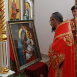 В понедельник Светлой седмицы епископ Вениамин совершил Божественную литургию в Александро-Невском храме города Марьина Горка
