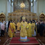В день памяти Собора всех Белорусских Святых епископ Борисовский и Марьиногорский Вениамин совершил Литургию в Благовещенском монастыре
