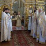 В Неделю 9-ю по Пятидесятнице епископ Вениамин совершил Литургию в Благовещенском монастыре