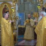 В день памяти святых отцов шести Вселенских Соборов епископ Вениамин возглавил Литургию в Благовещенском монастыре