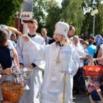 В Преображение Господне епископ Вениамин совершил Литургию в Воскресенском соборе города Борисова