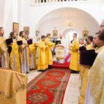 В день памяти равноапостольной Марии Магдалины епископ Вениамин совершил Литургию в Александро-Невском храме города Марьина Горка