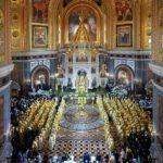 Епископ Вениамин принял участие в торжественном богослужении в Храме Христа Спасителя в день 70-летия Святейшего Патриарха Кирилла