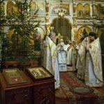 В праздник Рождества Господа и Спаса нашего Иисуса Христа епископ Вениамин возглавил Литургию святителя Василия Великого в Ляденском Благовещенском монастыре