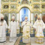 Епископ Борисовский и Марьиногорский Вениамин сослужил Патриаршему Экзарху за великой вечерней