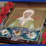 В Борисов прибудет икона блаженной Матроны Московской и ковчег с частицей мощей святой