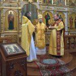 В день воспоминание Адамова изгнания епископ Вениамин совершил Литургию в Благовещенском монастыре