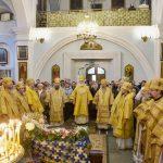 Епископ Борисовский и Марьиногорский Вениамин сослужил Патриаршему Экзарху в день его 65-летия