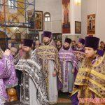 В храме святого благоверного князя Димитрия Донского епископ Вениамин совершил Литургию Преждеосвященных Даров