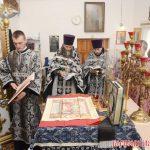 Епископ Вениамин совершил Литургию Преждеосвящённых Даров в храме Преображения Господня города Березино