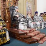Преосвященнейший Вениамин возглавил Литургию Преждеосвященных Даров в Благовещенском монастыре
