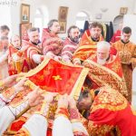 В понедельник Светлой седмицы, епископ Вениамин совершил Божественную литургию в кафедральном соборе города Марьина Горка