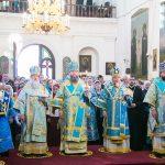 В канун праздника Жировичской иконы Божией Матери епископ Вениамин сослужил архиепископу Гурию за праздничным всенощным бдением