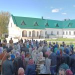 В Неделю о самаряныне епископ Вениамин совершил Литургию в Благовещенском монастыре