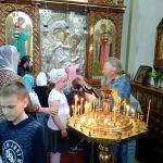 Учащиеся Воскресной школы Покровского прихода Озерицкой Слободы закончили учебный год паломничеством в Благовещенский монастырь д. Малые Ляды