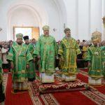 Епископ Вениамин принял участие в праздничном всенощном бдении в Спасо-Евфросиниевском монастыре