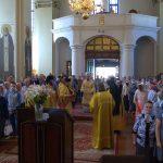 В Неделю 7-ю по Пятидесятнице епископ Вениамин совершил Литургию в Благовещенском монастыре