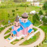Собор святого благоверного князя Александра Невского г. Марьина Горка сняли сверху с квадрокоптера