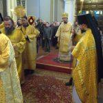 В Неделю 24-ю по Пятидесятнице, епископ Вениамин совершил Литургию в Благовещенском монастыре
