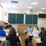 Встреча священника со старшеклассницами