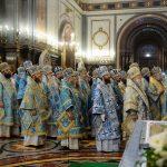 Епископ Борисовский и Марьиногорский Вениамин принял участие в торжественном богослужении в Храме Христа Спасителя в день 100-летия интронизации святителя Тихона, Патриарха Московского