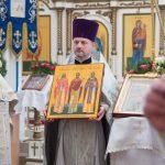 В день праздника Собора Пресвятой Богородицы епископ Борисовский и Марьиногорский Вениамин совершил Божественную литургию в Александро-Невском кафедральном соборе г. Марьина Горка