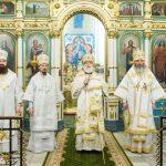 Преосвященнейший Вениамин сослужил Патриаршему Экзарху