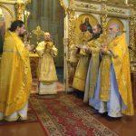 В Неделю перед Рождеством Христовым епископ Вениамин совершил Литургию в Ляденском мужском монастыре в честь Благовещения Пресвятой Богородицы