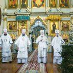 В день памяти 20 000 мучеников Никомидийских епископ Вениамин сослужил Патриаршему Экзарху за Литургией в Жировичском ставропигиальном мужском монастыре