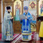 В Неделю сыропустную Преосвященнейший Вениамин совершил Литургию в Воскресенском кафедральном соборе Борисова