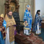 В Великую Субботу, Благовещение Пресвятой Богородицы епископ Вениамин совершил Литургию в Благовещенском монастыре