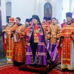 В кафедральном соборе города Борисова епископ Вениамин совершил Божественную литургию