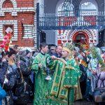 В праздник Входа Господня в Иерусалим епископ Вениамин совершил Литургию в кафедральном соборе города Борисова