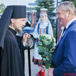 В Неделю 6-ю по Пасхе, о слепом епископ Борисовский и Марьиногорский Вениамин совершил Божественную литургию в храме иконы Божией Матери «Избавительница» г. Жодино