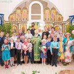 Молебен и торжественная линейка, посвященные окончанию учебного года, прошли в Александро-Невском кафедральном соборе г. Марьина Горка