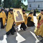 Список чудотворной иконы Божией Матери «Махериотисса» прибыл в монастырь Благовещения Пресвятой Богородицы в д. Малые Ляды