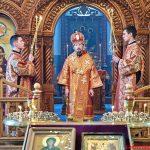 Накануне Недели 9-й по Пятидесятнице епископ Борисовский и Марьиногорский Вениамин совершил всенощное бдение в храме Рождества Христова в г. Борисове