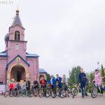 В I Пуховичском благочинии состоялся крестный ход на велосипедах с образом Марьиногорской иконы Божией Матери