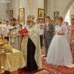 На приходе кафедрального собора святого Александра Невского г. Марьина Горка состоялась свадьба прихожан