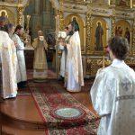 В Неделю 13-ю по Пятидесятнице епископ Борисовский и Марьиногорский Вениамин совершил Божественную литургию в Благовещенском мужском монастыре д. Малые Ляды