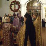 В канун праздника Воздвижения Креста Господня епископ Борисовский и Марьиногорский Вениамин совершил всенощное бдение в монастыре Благовещения Пресвятой Богородицы д. Малые Ляды