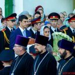 Паломники из Борисовской епархии помолились за всенощным бдением в Свято-Духовом кафедральном соборе города Минска