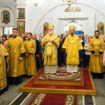В канун Недели 19-й по Пятидесятнице епископ Вениамин сослужил Патриаршему Экзарху всея Беларуси за всенощным бдением