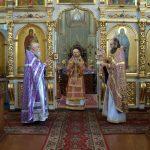 В Неделю 18-ю по Пятидесятнице епископ Вениамин совершил Божественную литургию в Благовещенском мужском монастыре д. Малые Ляды