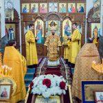 В Неделю 26-ю по Пятидесятнице, епископ Борисовский и Марьиногорский Вениамин совершил Божественную литургию в кафедральном соборе Воскресения Христова города Борисова