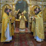 В Неделю 27-ю по Пятидесятнице епископ Борисовский и Марьиногорский Вениамин совершил Божественную литургию в Благовещенском монастыре д.М.Ляды